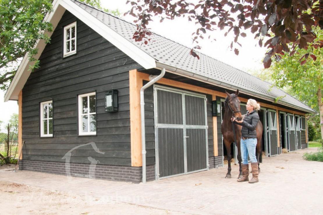 Goede Zwarte, duurzame paardenstal van hout • Houten paardenstal AK-41